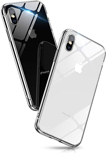 Amazon.co.jp: Aunote iPhone XS ケース iPhoneX ケース クリア 背面ガラス 薄型 軽量 耐衝撃 ハードケース (iPhone X/XS, クリア): 家電・カメラ