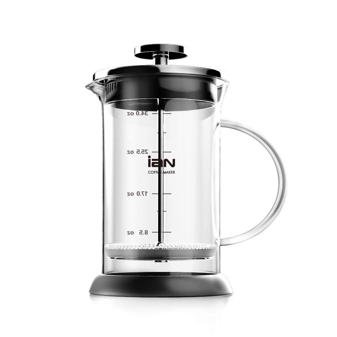 Acquisto Decen 6tazza caffettiera francese caffè Press Tea Press stainless steel Coffee pot 1000ML /34OZ Prezzi offerta