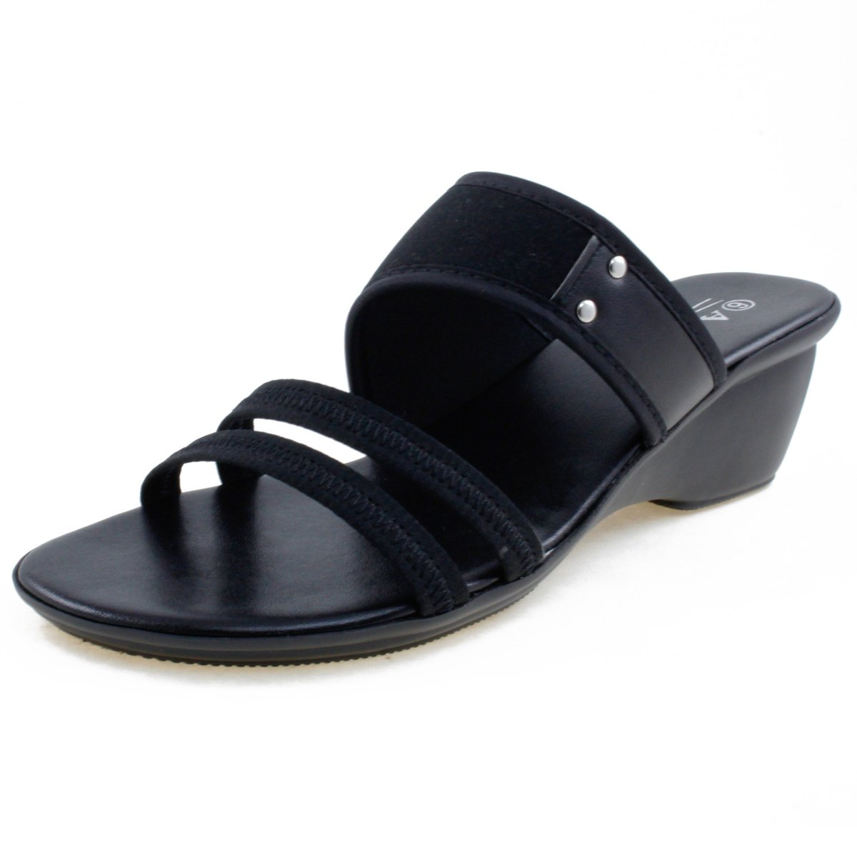Agape HOLDING-02 Lightweight Neoprene Wedge Sandal B07BX7PS3B 7.5 B(M) US|Black