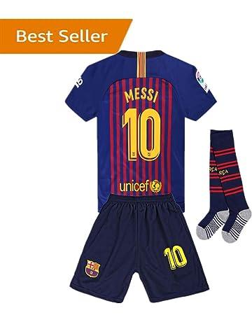 Newkidsjs Barcelona  10 Messi Kids and Youth Soccer Jersey   Shorts   Socks  2018- 7987341b0db56