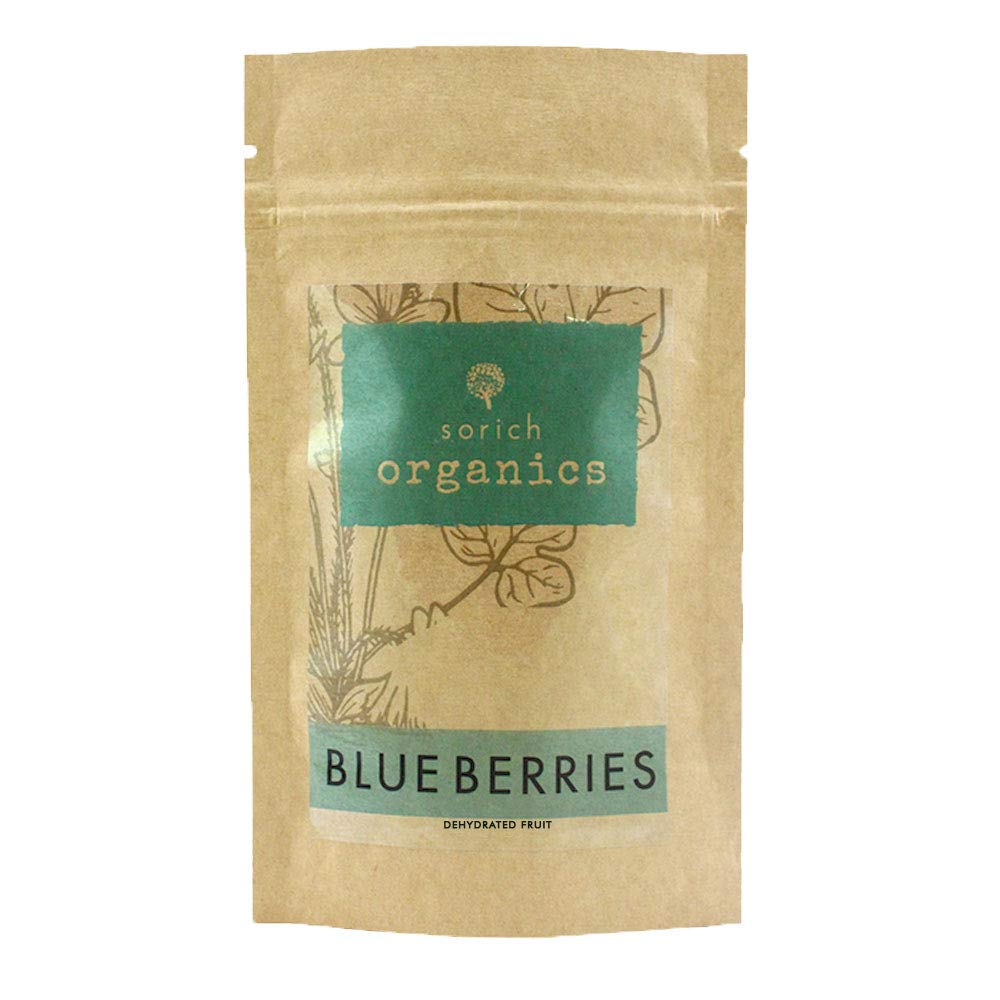 Sorich Organics Naturally Dried Blueberries - Unsulphured, Unsweetened and  Naturally Dehydrated Fruits - 150 Gm
