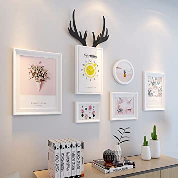 WUXK The Nordic Style Photo Wall Paintings Modern Minimalist Living Room  Sofa Mural Wall Mount The