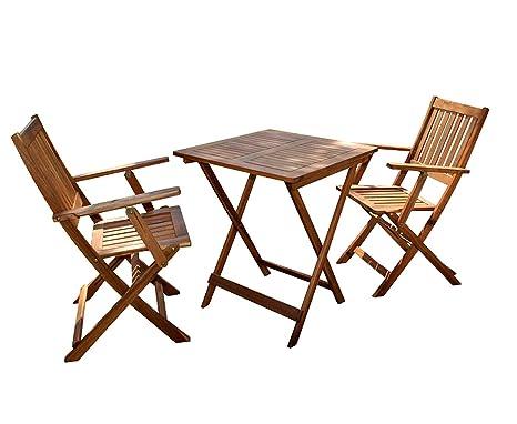 SAM® Conjunto para jardín resistente, 3 piezas, mueble de ...
