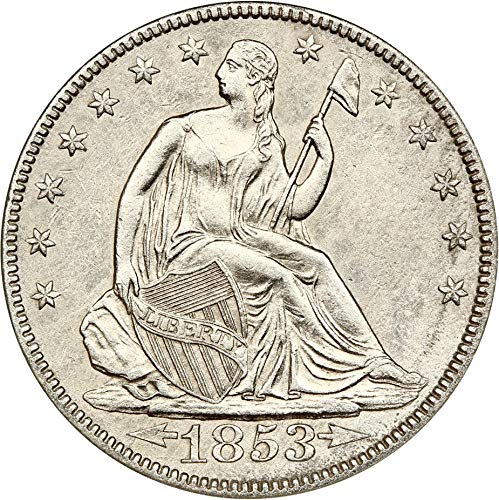 1853 P Liberty Seated Half Dollars Arrows & Rays Half Dollar AG0 NGC ()