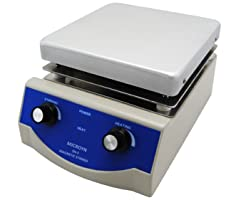 Microyn SH-3 Analog Laboratory Magnetic Stirrer Hot Plate, 17cm x 17cm Panel, 500W, 100-1600rpm, 3L Capacity, One Year Warranty