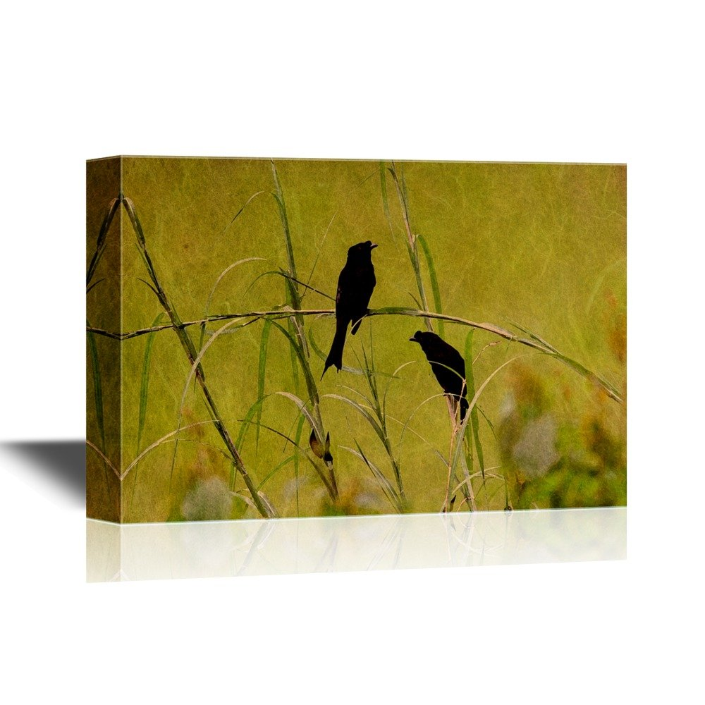 Two Birds in the Wild Grass - Canvas Art | Wall26
