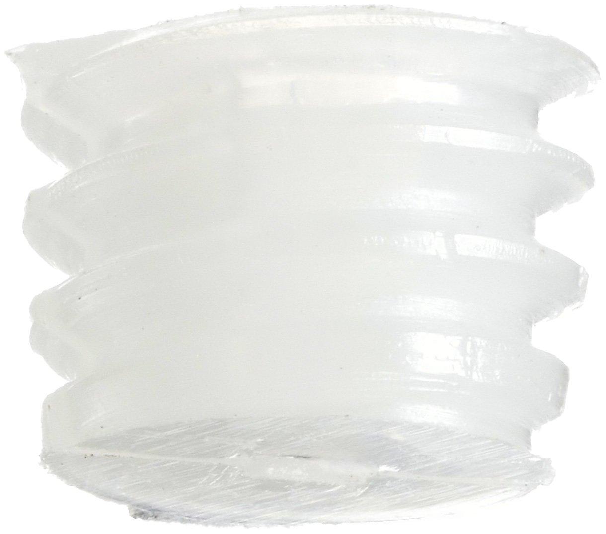 Meets ASTM D4066//ASTM D6779 Pack of 100 1//4 Length Plain Finish Hex Socket Drive Nylon 6//6 Set Screw #4-40 Threads White