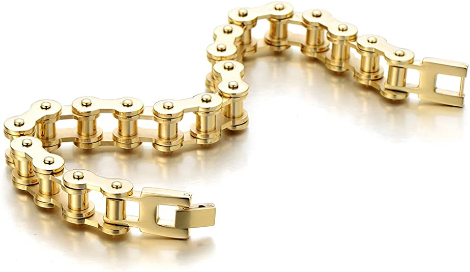 Men/'s statement bracelet Men metal bracelet Bike link bracelet Motorcycle link cuff Wrench bracelet biker gift for him spanner jewelry