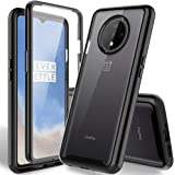 HATOSHI OnePlus 7T Case with Built-in Screen Protector, Heavy Duty Protection Crystal Clear Back Shockproof Rubber Bumper Pro