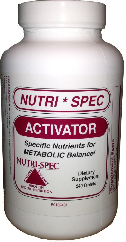 Nutri-Spec ACTIVATOR Oxygenic B 240 Tablets