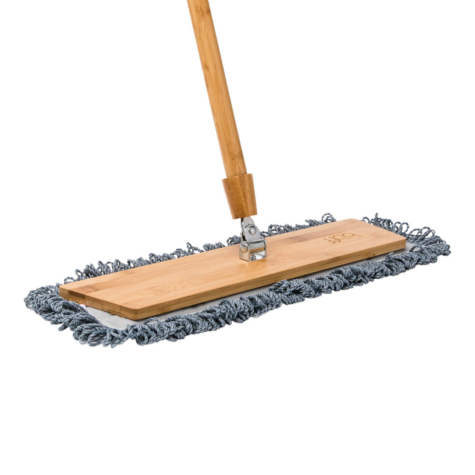 18'' Natural Bamboo Microfiber Mop for Hardwood Floors | Lightweight Dust Mop | Machine Washable by Microfiber Wholesale