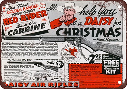 """7"""" x 10"""" METAL SIGN - 1940 Daisy Red Rider BB Gun - Vintage Look Reproduction"""