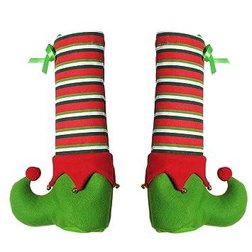 Weihnachtsdeko Stuhl.Ssitg 1pc Weihnachten Elf Tisch Stuhl Bein Fuß Abdeckungen Set