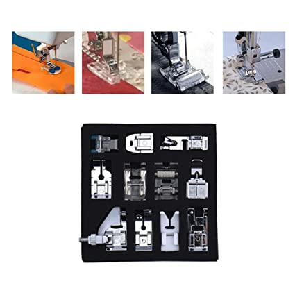 11PCS multifuncional máquina de coser presser pie conjunto accesorios de costura