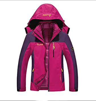 WILD GIANT Women s Plus Size Cotton-Padded Lined Detachable Warm Waterproof  Breathable Two Pieces Outdoor 2138c4360