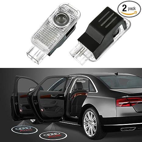 Amazon.com: Luz proyector LED para puerta de coche, fácil de ...