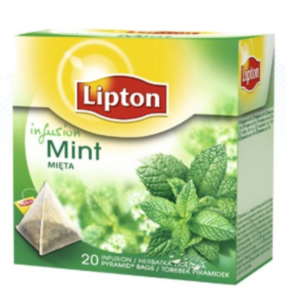 Lipton - MINT (Herbal Infusion) - 20 count box (Pack 8 boxes = 160 count) Pyramid tea bags