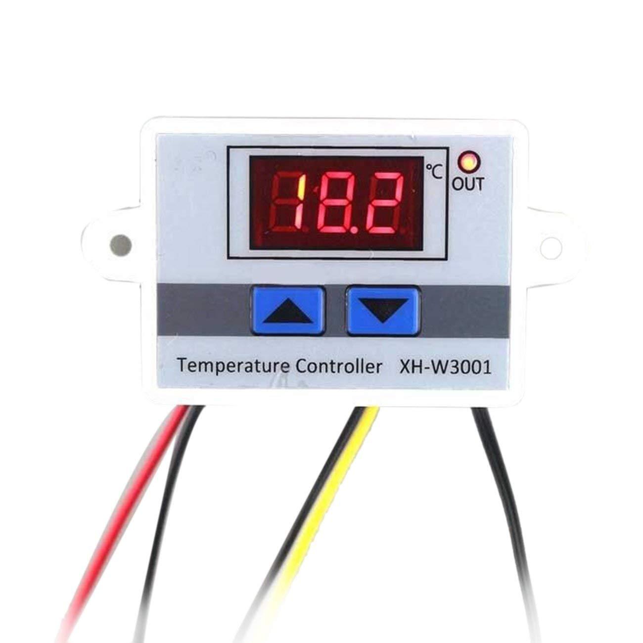 Blanco LasVogos LED Digital Controlador de Temperatura Control del termostato Interruptor Impermeable Sensor de Temperatura de sonda de Alambre Conectar Alta sensibilidad