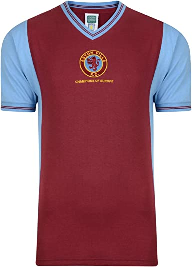 Score Draw Aston Villa 1982 Champions of Europe Retro Football Soccer T-Shirt