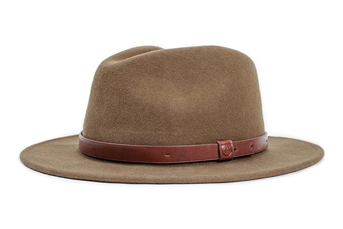 07dee2523b Brixton Men's Messer Fedora Hat, Light Olive, X-Large: Amazon.ca ...