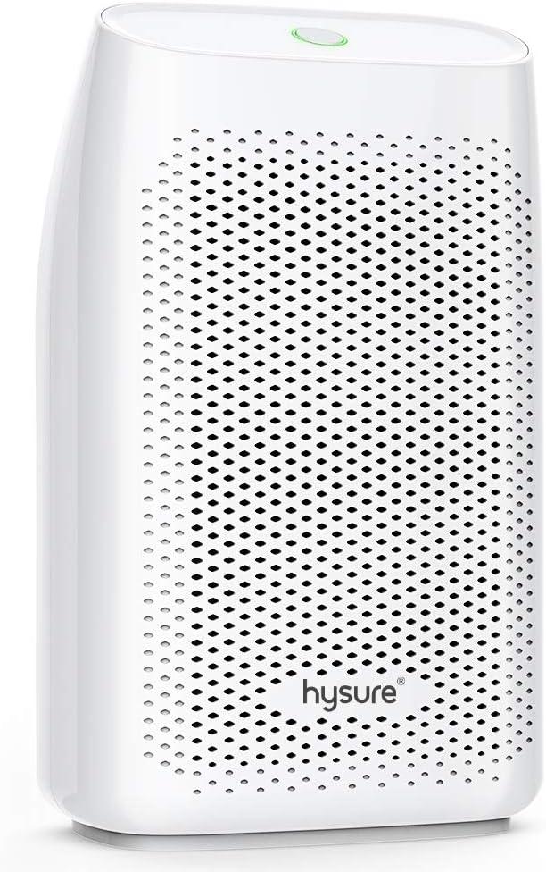 Hysure Dehumidifier,700ml Compact Deshumidificador 1200 Cubic Feet 215 sq ft Quiet Room Dehumidifier, Portable Dehumidifier Bathroom Dehumidifier for Dorm Room, Baby Room, Home