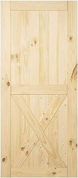 Homacer - Kit de puerta corredera para puerta de granero estándar de una sola puerta, rodillo de diseño recto, color negro rústico resistente interior uso exterior: Amazon.es: Bricolaje y herramientas