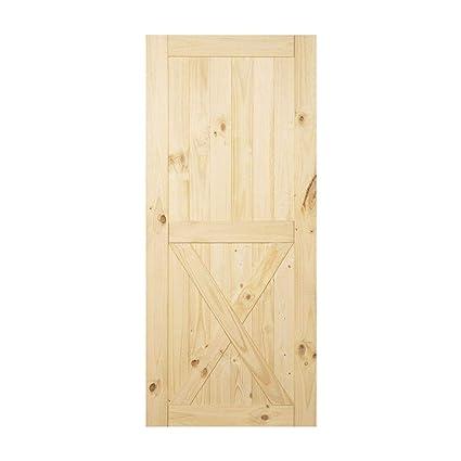 Amazon Homacer Sliding Barn Door Natural Pine Wood Panel Slab