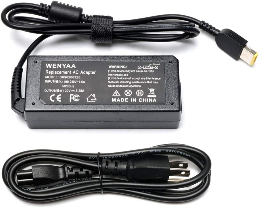 65W 20V 3.25A AC Adapter USB Laptop Charger for Lenovo IdeaPad Yoga 2 11 11s 13 2 Pro13 ; IdeaPad S210 U430 U530 G500; Lenovo Flex 2 3 15 15D 14 10 G40 G50; fit 0A36258 36200251 ADP-65FD B Power Cord