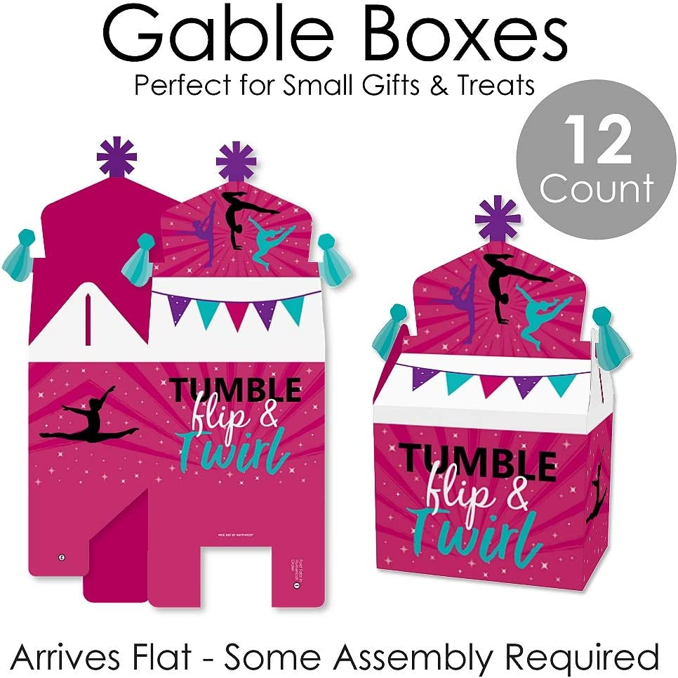 Treat Box Party Favors Birthday Party or Gymnast Party Goodie ...