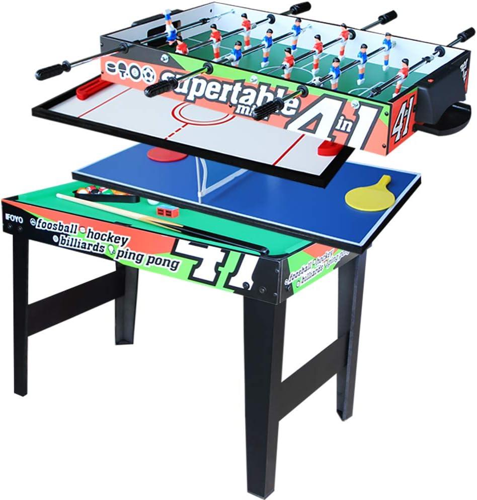 Vocheer 4 en 1 Multi Combo mesa de juego, mesa de hockey, futbolín ...