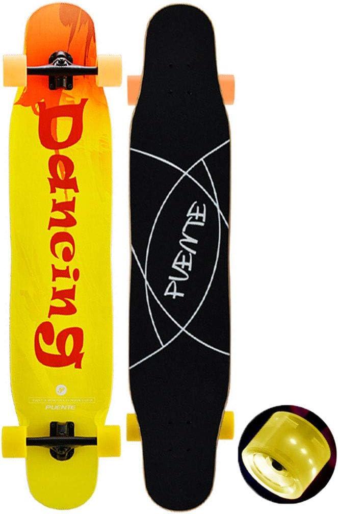 スケートボード 46.5インチプロダンスロングボード軽量スケートボード8層のカナダのカエデのフリースタイルスケートボードを介してドロップ(デッキを介してドロップ - キャンバー凹面) アウトドア #2