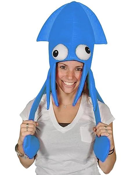 Amazon.com: Novedad Azul Calamar Pulpo Hat Costume Party Hat ...