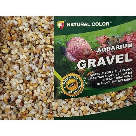Color Natural tanque de peces de acuario/estanque de jardín Tejas de guisante grava/arena 3 - 5 mm, 5 kg: Amazon.es: Productos para mascotas