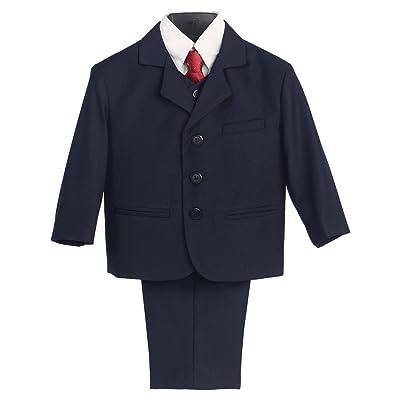 5 Piece Khaki Suit with Shirt, Vest, and Tie