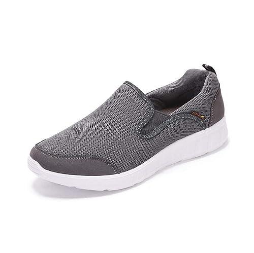 mogeek Zapatillas Sin Cordones para Hombre Transpirable Ocio Slip on Sneaker: Amazon.es: Zapatos y complementos