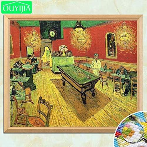 tzxdbh Pintura Famosa de Van Gogh Cafetería de Noche 5D DIY ...