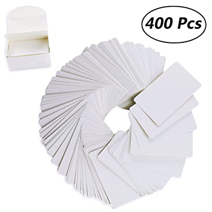 Amazon weoxpr 400pcs white blank kraft note paper business weoxpr 400pcs white blank kraft note paper business cards vocabulary word card message card diy gift reheart Image collections