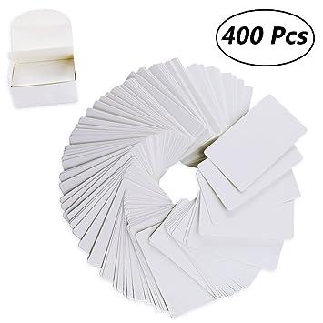 Weoxpr 400 Pcs Blanc Vierge Kraft Papier Note Cartes De Visite Vocabulaire Word Carte Message DIY