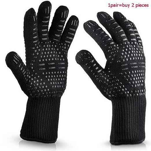 500 grados de alta temperatura de silicona guantes de protección ...