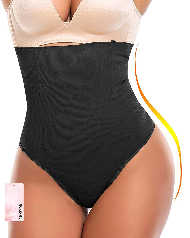 gofanmu Women High Waist Cincher Tummy Control Slimmer Thong Panty Shapewear 3682SFGFM