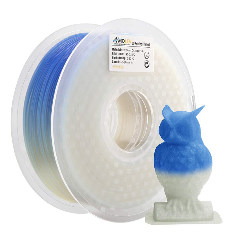 Color changing 3D printer PLA filament 1.75mm sunlight // UV // temperature
