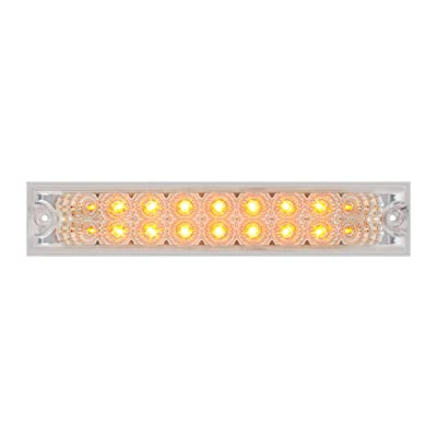 """GG Grand General 76481 Amber/Clear Light Bar (10"""" Spyder 18-LED, Lens Double Row): Automotive"""