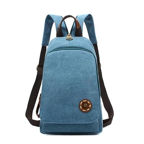 9b8e1533b MiCoolker Fashion Sleeves Canvas Backpack Cute College Bag Leisure Travel  Shoulder Bag Hiking Backpack For Girls