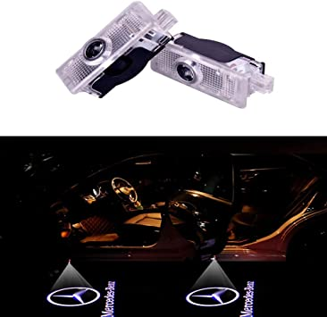 Defov Türbeleuchtung Einstiegsleuchte Autotür Licht 3d Logo Light Benz Cla Benz Logo Auto