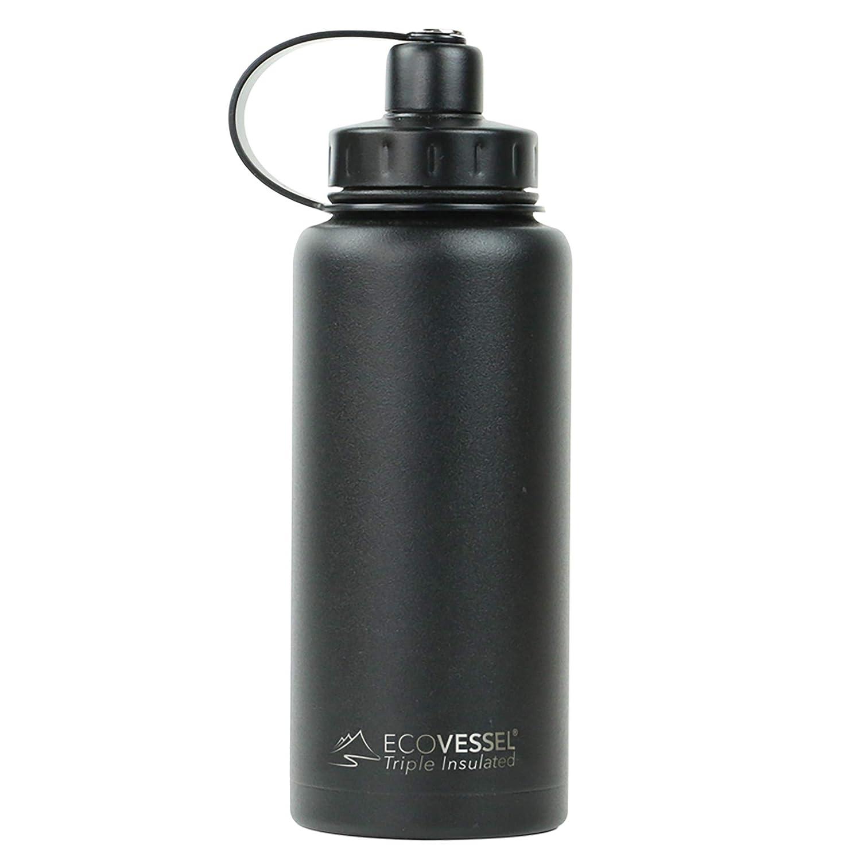 Ecovessel Boulder Vakuum Isolierte Edelstahl-Flasche mit Dual Öffnung Oben und, Tee, EIS Sieb