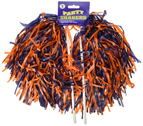 Broncos Cheerleader Halloween Costumes - Pkgd Blue & Orange Poly Shakers