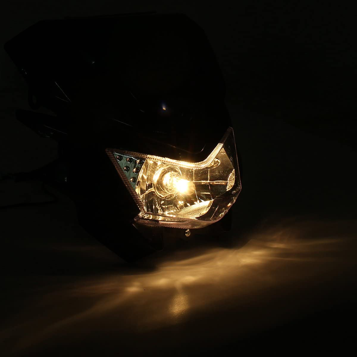Blanc Alamor 12V H4 Lampe De T/ête Universelle Moto pour Yamaha Dual Sport Street Fighter Dirtbike