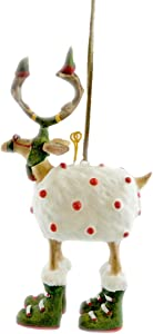 Patience Brewster Mini Dashaway Blitzen Reindeer Ornament Christmas Holiday Tree Decoration