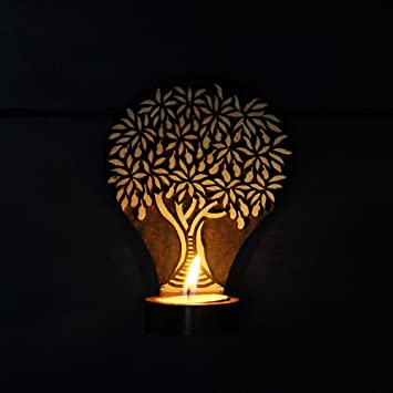 Buy ExclusiveLane Wooden Hand Engraved Tree of Life Table Cum Wall