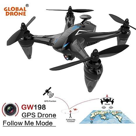 mundial Drone] gw198 gran angular HD Cámara 5 G WIFI Follow Me Ray ...